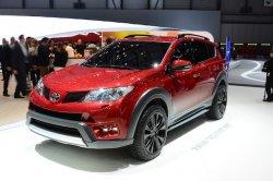 Специфический дизайн нового автомобиля Toyota RAV4 Adventure