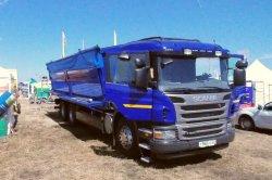 Новый зерновоз Scania представлен на Сибирской выставке