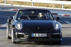Porsche 911 Turbo Cabrio был снят на тестах шпионами